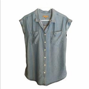 Jachs -Girlfriend Button Down Chambray Shirt